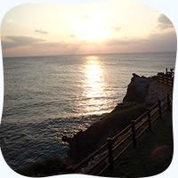 運が良ければ水平線へ沈む夕陽を眺められるかも